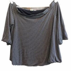 Navy striped Gap women's shirt size medium